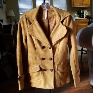 Wool Blend Sunflower Gold Coat